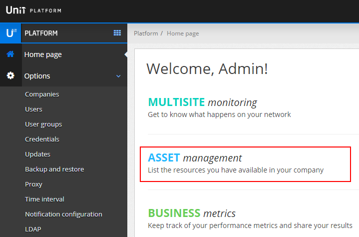 Acesso ao Asset Management
